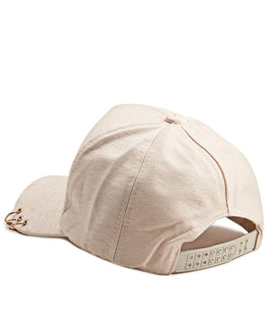 Ring Detail Cap - Beige