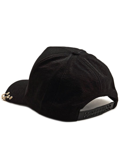 Ring Detail Cap - Black