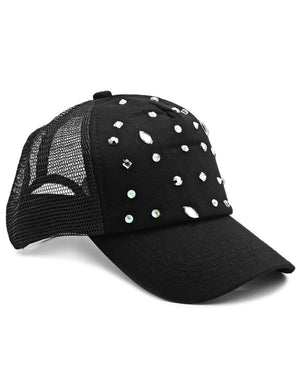 Studded Cap - Black