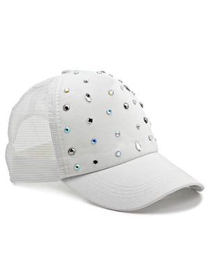 Studded Cap - White