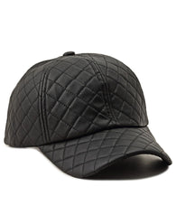 Quilted Cap - Black