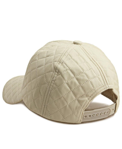 Quilted Cap - Cream