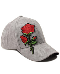 Suede Flower Cap - Grey
