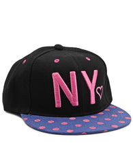 Polka Dot Cap  - Black