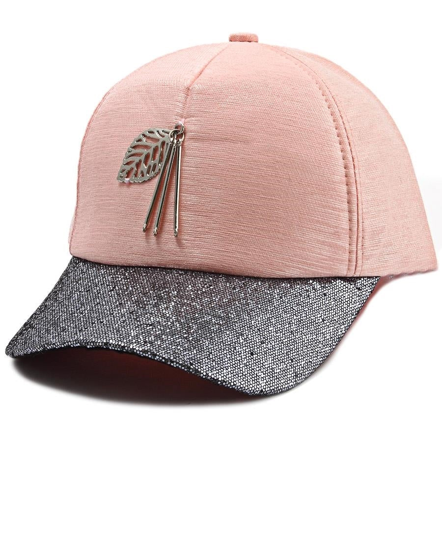 Leaf Trim Cap - Pink