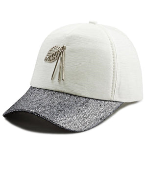 Leaf Trim Cap - White