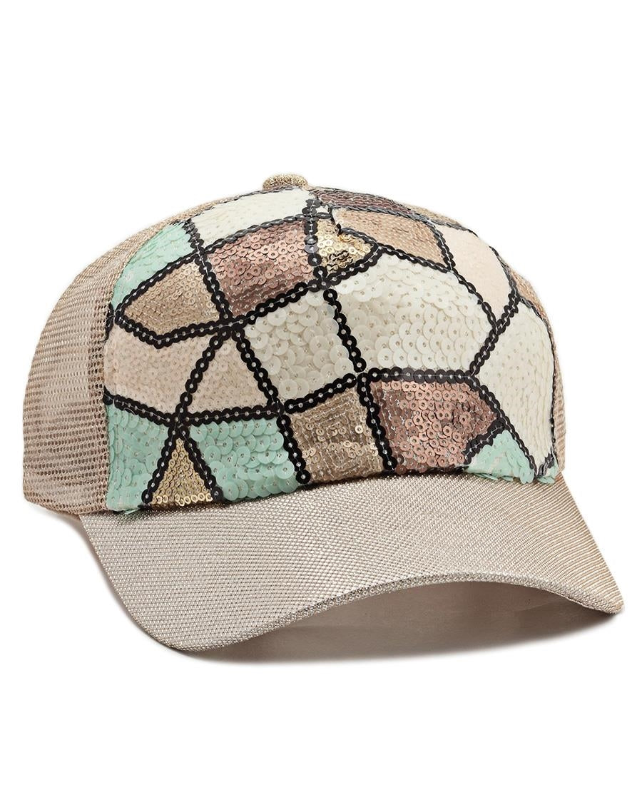 Sequins Cap - Gold