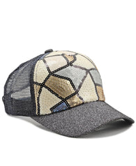 Sequins Cap - Black