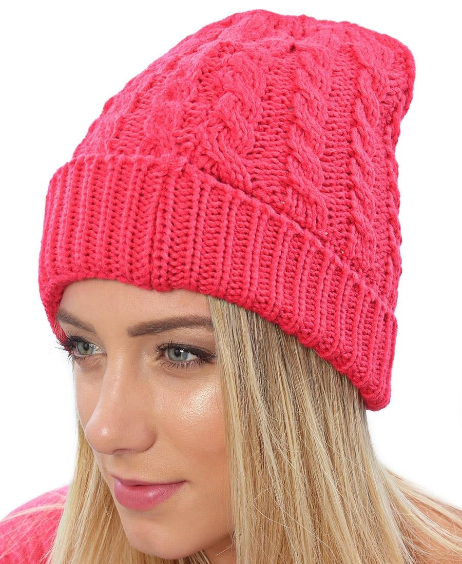 Woven Beanie - Pink