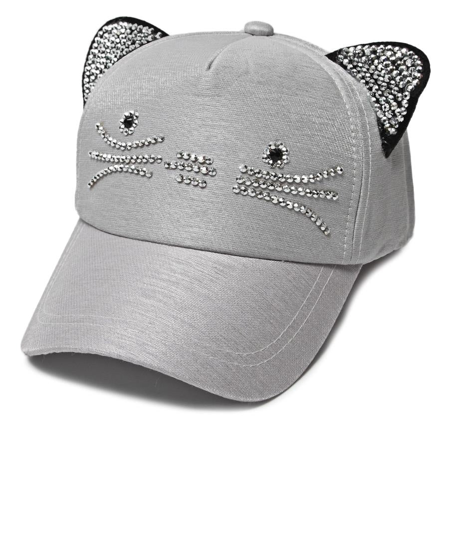 Cat Ears Cap - Grey