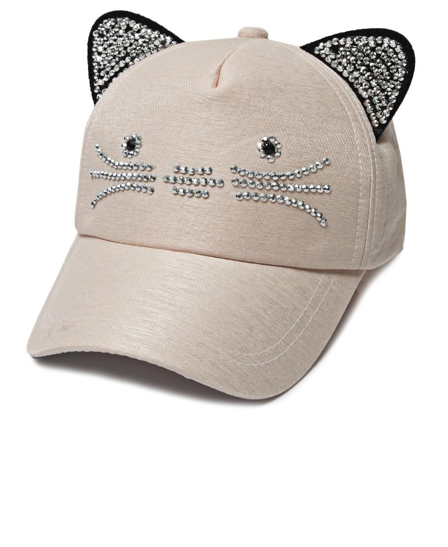 Cat Ears Cap - Light Pink