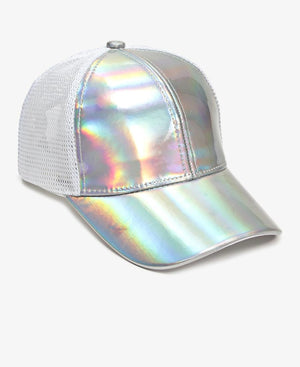Metallic Trucker Cap - Silver