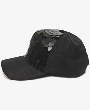 Fish Scale Cap - Black
