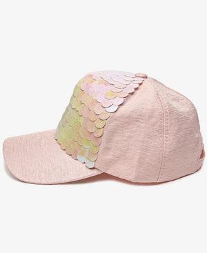 Fish Scale Cap - Pink