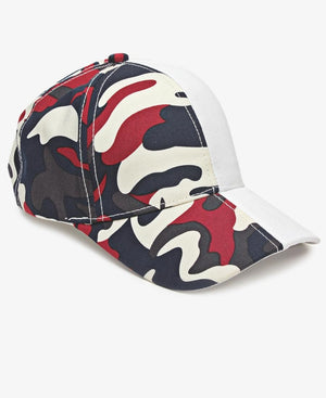 Split Camo Cap - White