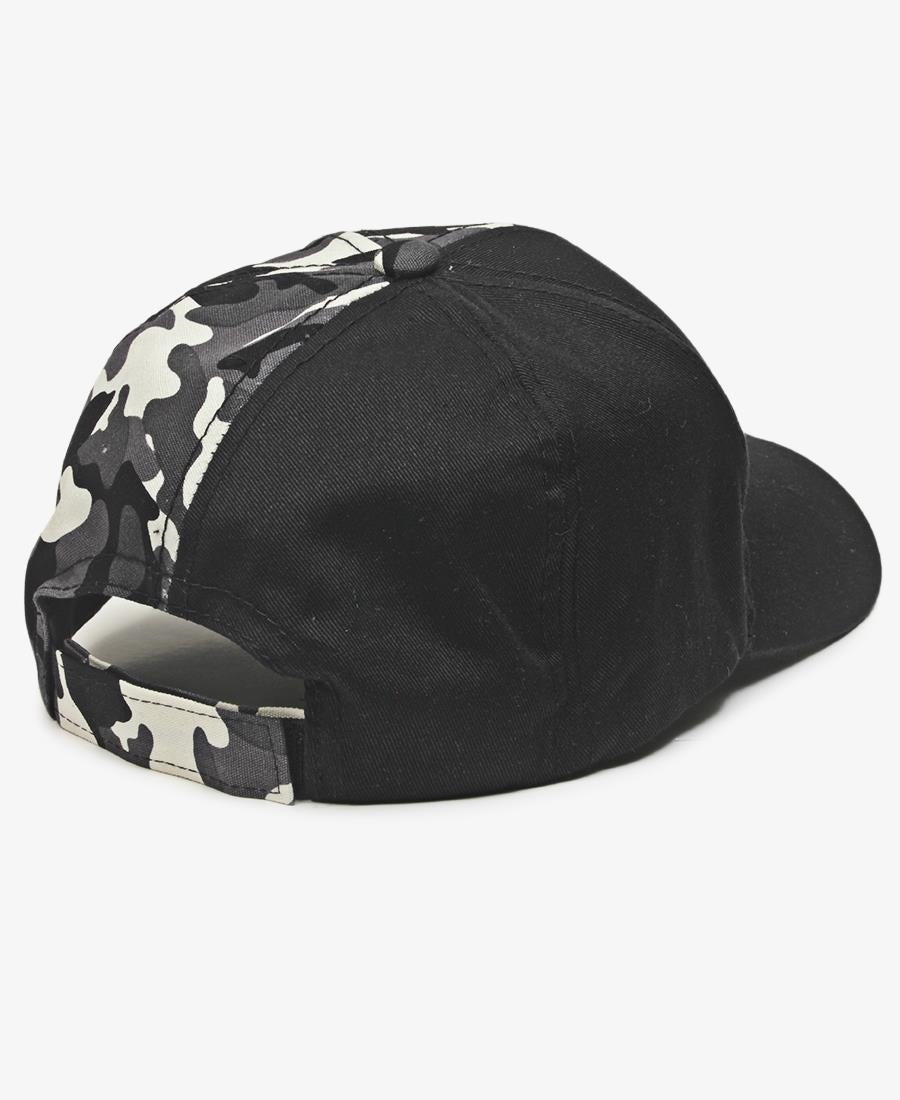 Split Camo Cap - Black