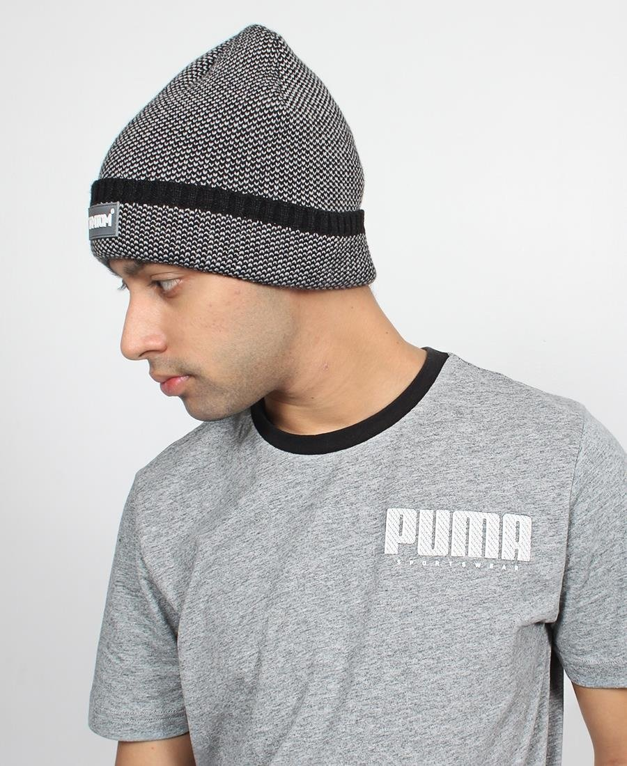Two Tone Men's Beanie - Black