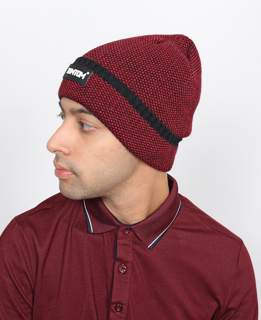 Two Tone Men's Beanie - Red