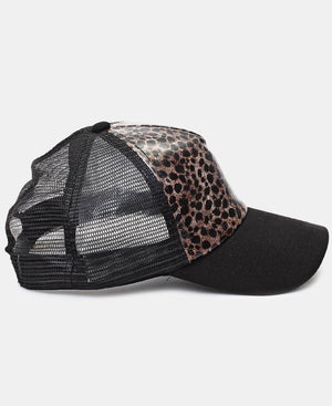 Animal Print Cap - Choc