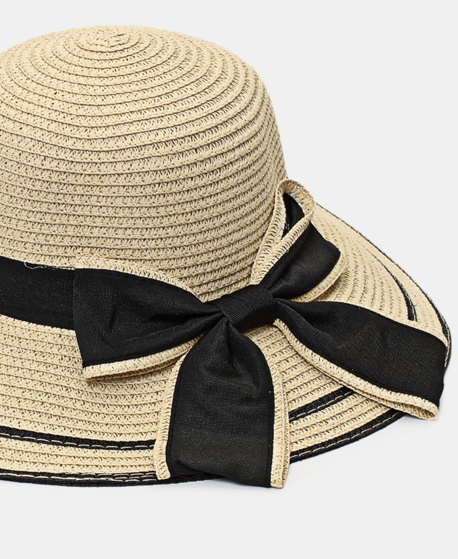 Bucket Straw Hat - Beige