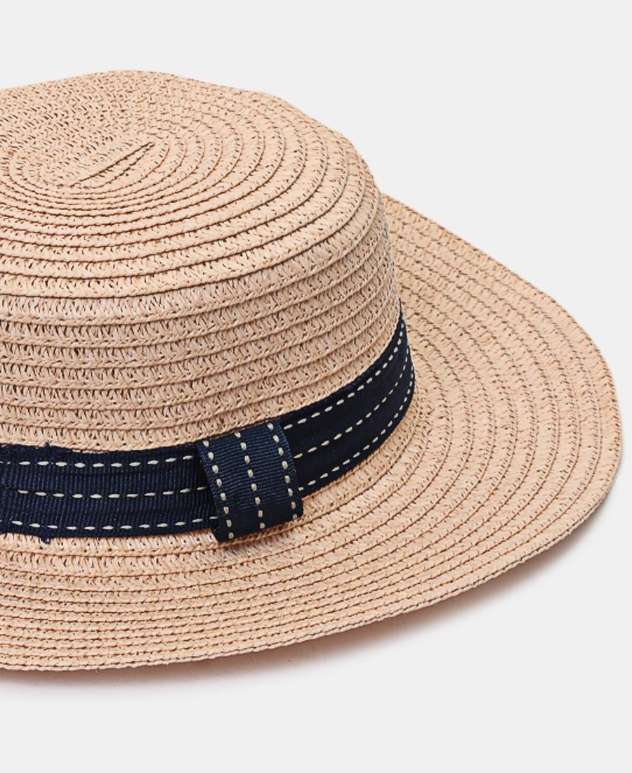 Girls Straw Hat - Pink