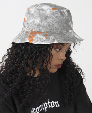 Tie Dye Bucket Hat - Grey