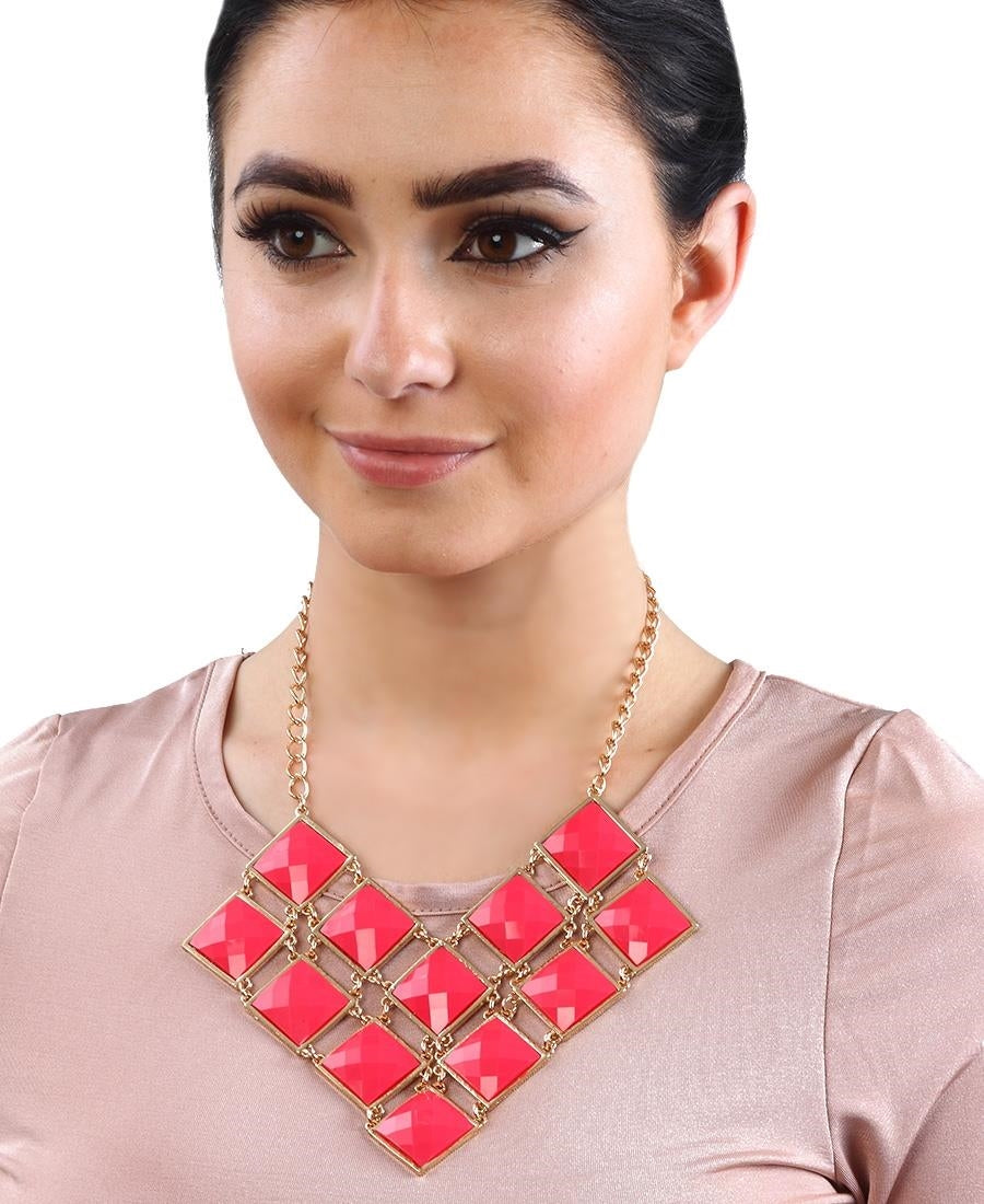 Statement Necklace - Red