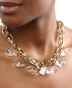 Statement Necklace - White
