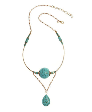 Amazonite Chain - Gold