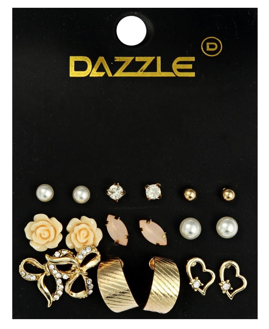 9 Pack Earrings  - Gold