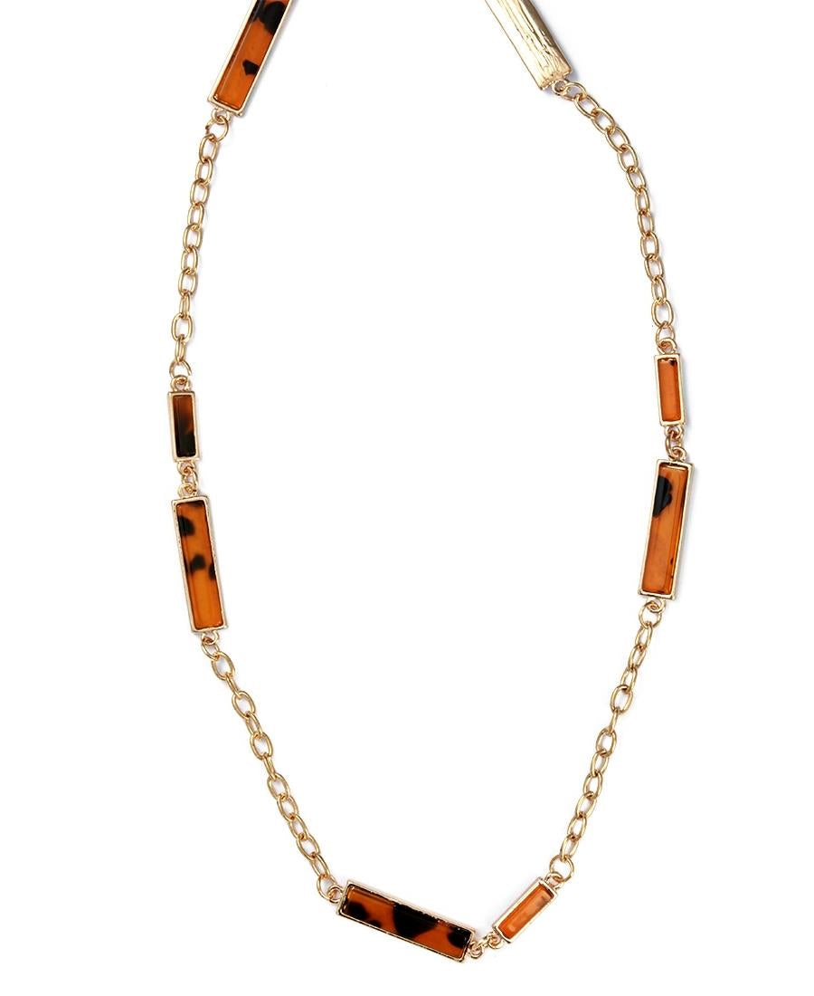 Animal Print Chain - Gold