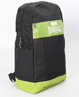 Lonsdale Backpack - Black-Green