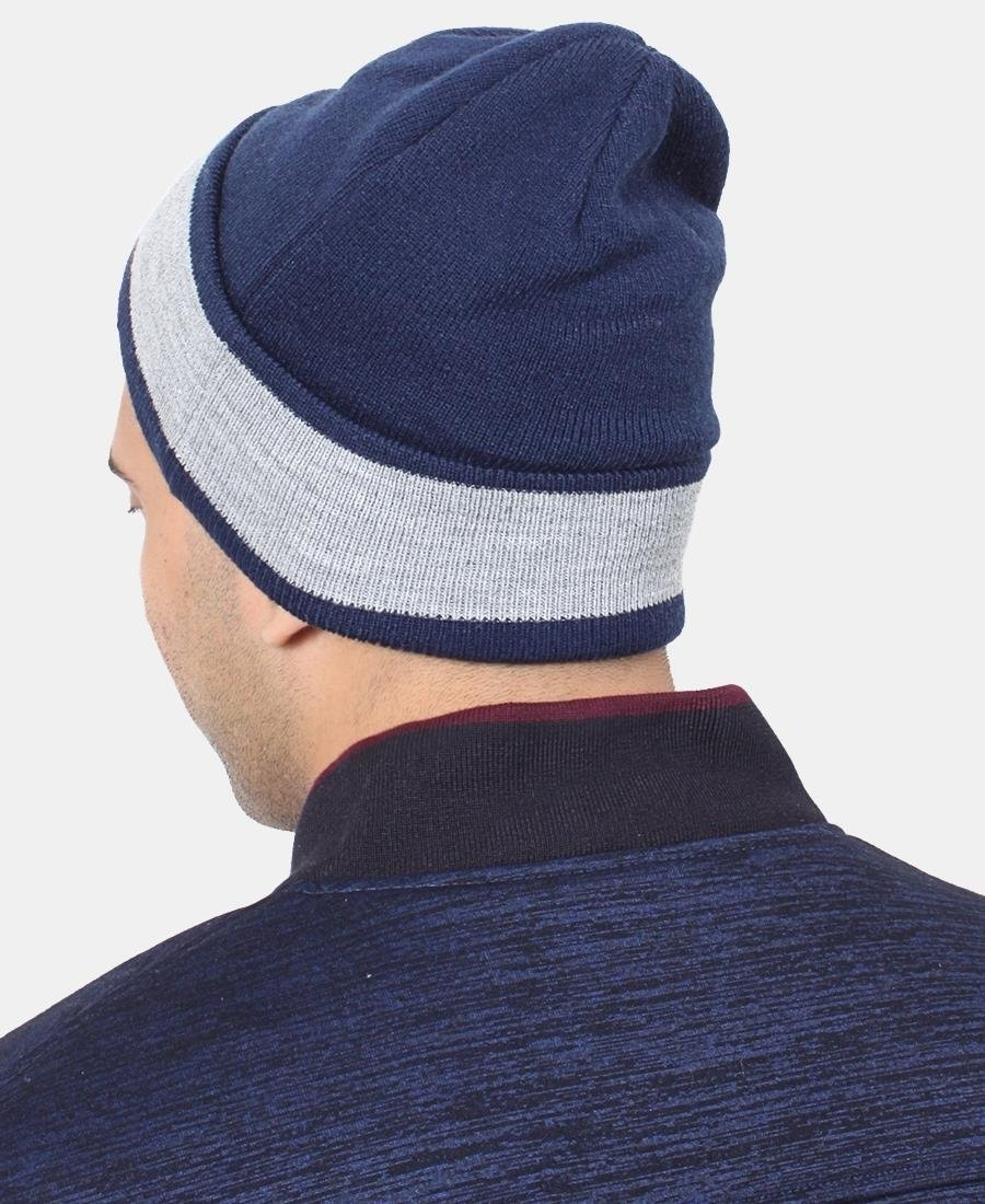 Lonsdale Two Tone Unisex Beanie - Navy
