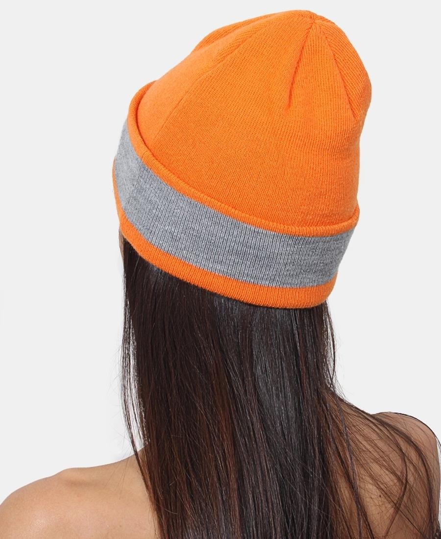 Lonsdale Two Tone Unisex Beanie - Orange