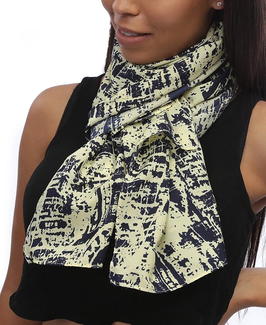Abstract Scarf  - Yellow