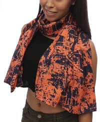 Abstract Scarf  - Orange