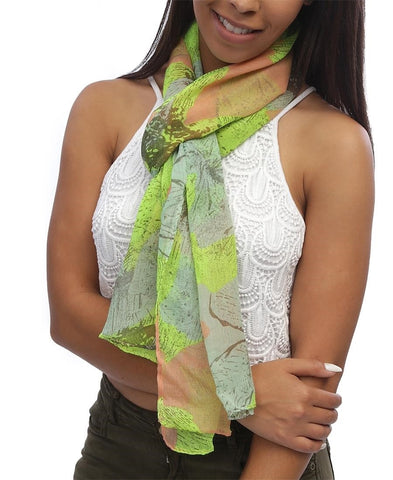 Floral Scarf - Green