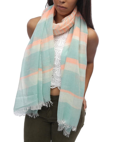 Striped Scarf - Orange