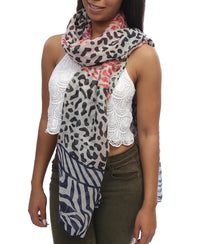 Animal Scarf - Red