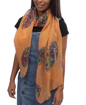 Aboriginal Scarf - Orange