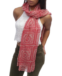 Aboriginal Scarf - Red