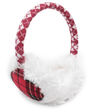 Fluffy Earmuffs  - Red