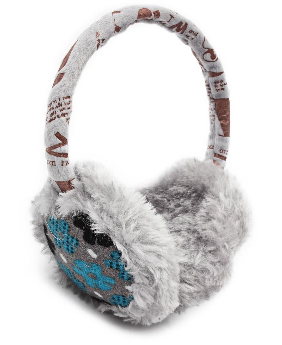 Fluffy Earmuffs  - Grey