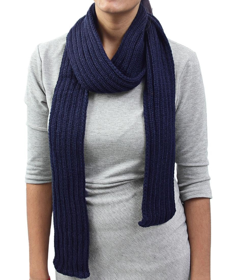 Woven Scarf - Navy
