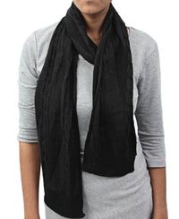 Knit Scarf  - Black