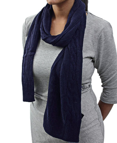 Knit Scarf  - Navy