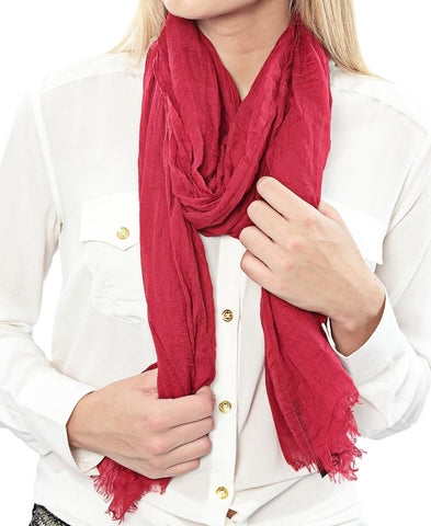 Plain Scarf - Red