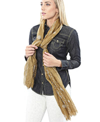 Paisley Print Scarf - Olive