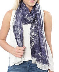 Paisley Print Scarf - Blue