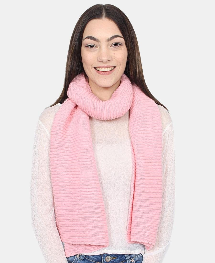 Ribbed Scarf - Pink